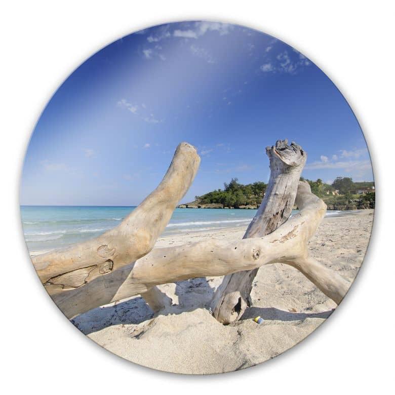 Glasschilderijen Zeedrift - rond