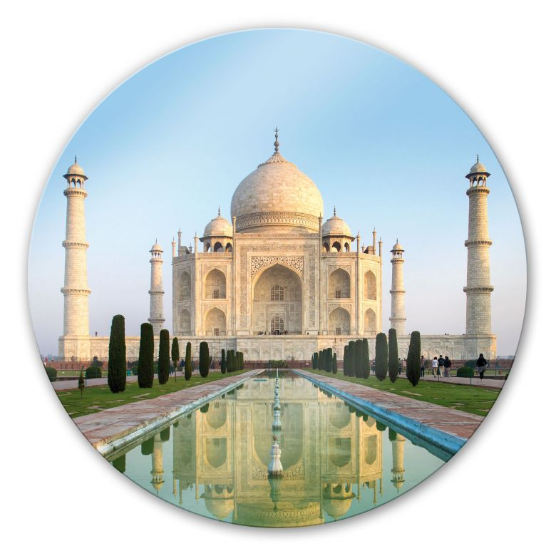Glasbild Taj Mahal - rund