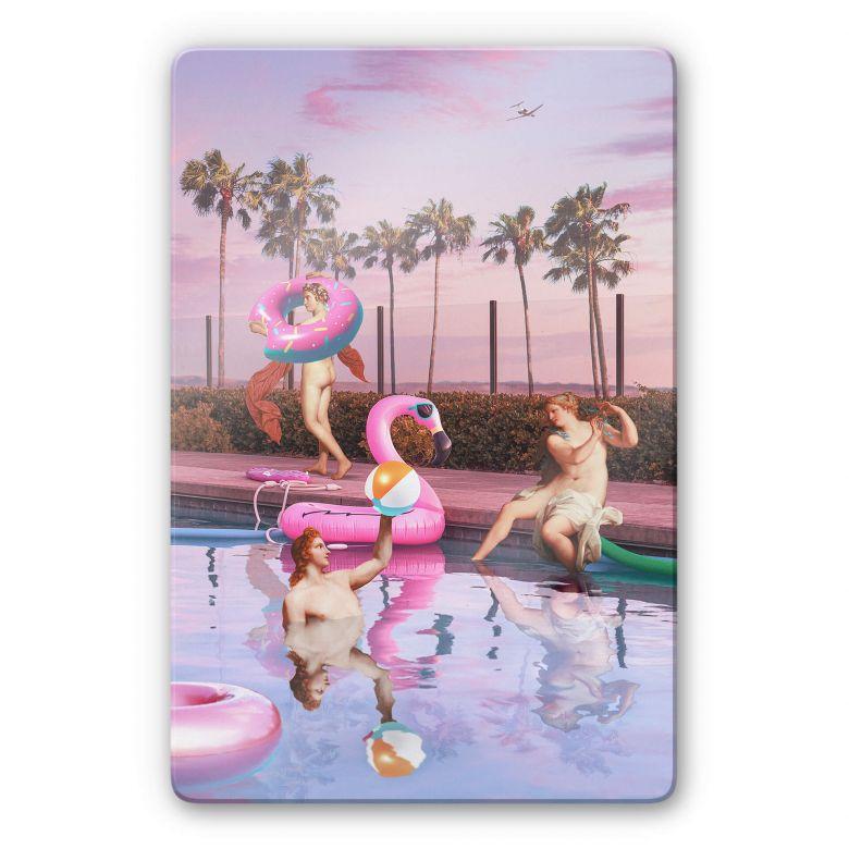 Glasbild Loose - Pool Party