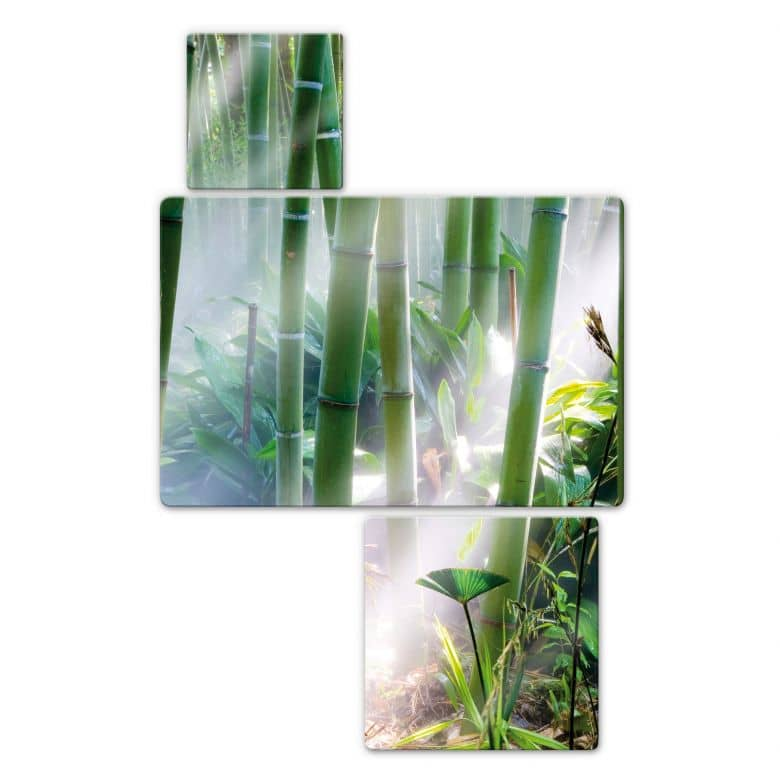 Bamboo Forest Glass art (3 parts)