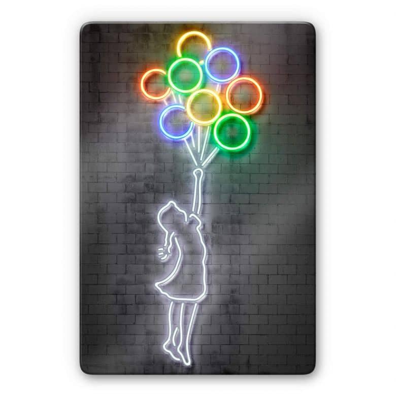 Glasbild Mielu - Flying Balloons