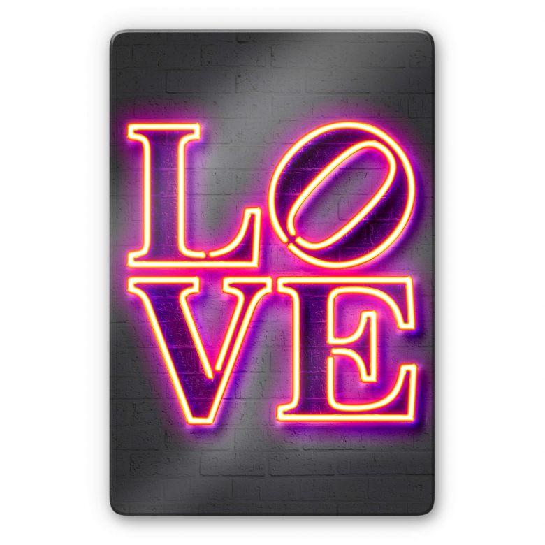 Glasbild Mielu - Love