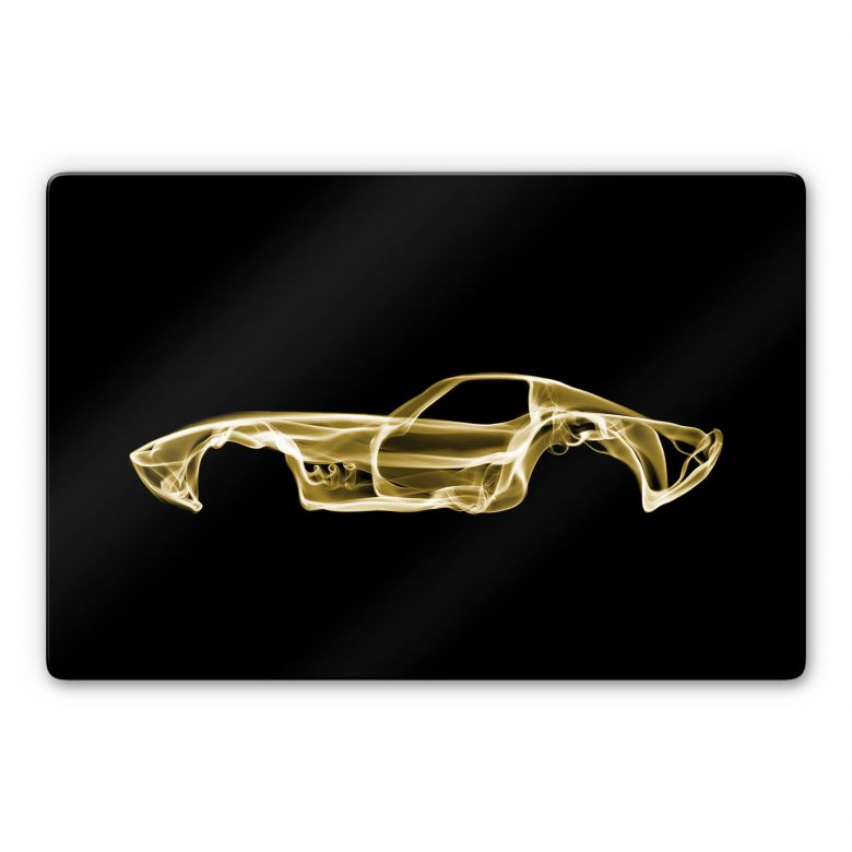 Glasbild Mielu - Yellow car