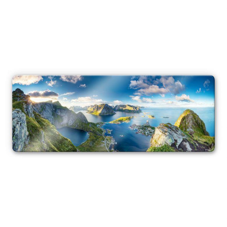 Glasbild Roemmelt - Aussicht vom Reinebringen - Panorama