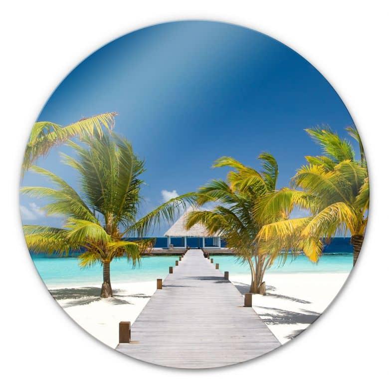 Glasbild Der Weg ins Paradies - rund