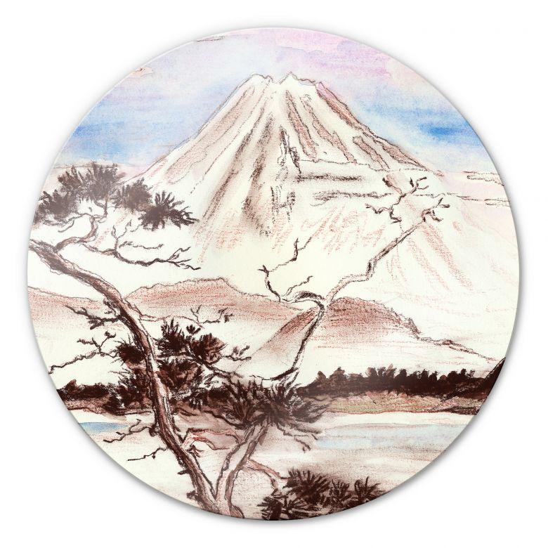 Glasbild Toetzke - Asian Landscape rund