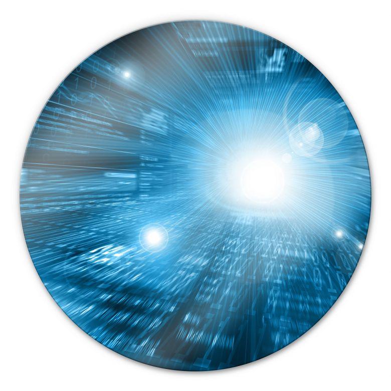Glasbild Network - rund