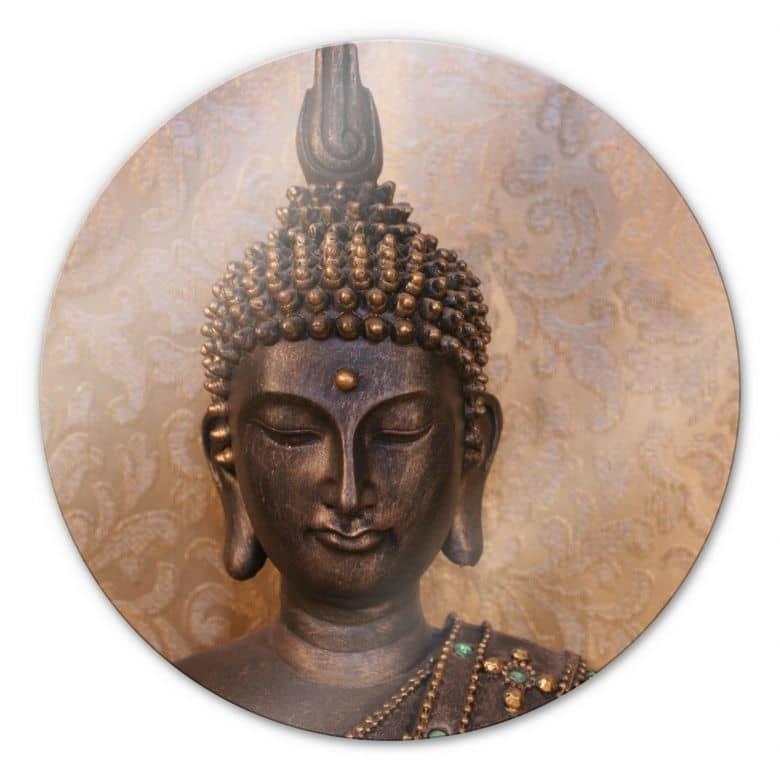 Glasschilderijen Wijze Boeddha - Rond