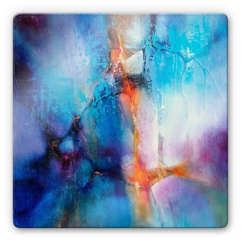 Glass Print Schmucker - Turquoise & Magenta