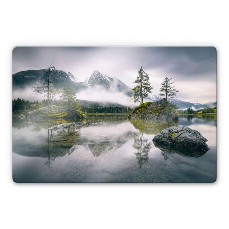 Glasbild Wiemer - Nebel über Hintersee