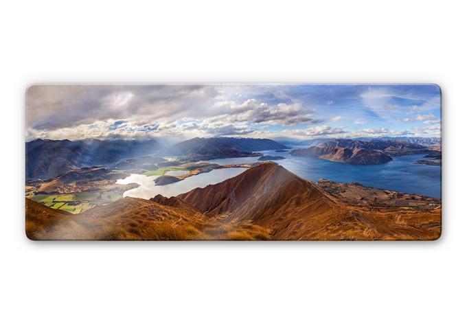Glasbild Yan  - Aussicht vom Roys Peak - Panorama