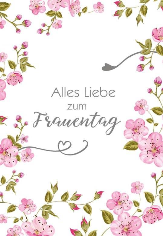 Gutschein Frauentag - Blütenillustration