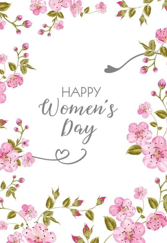 Gutschein Women's day - Blütenillustration