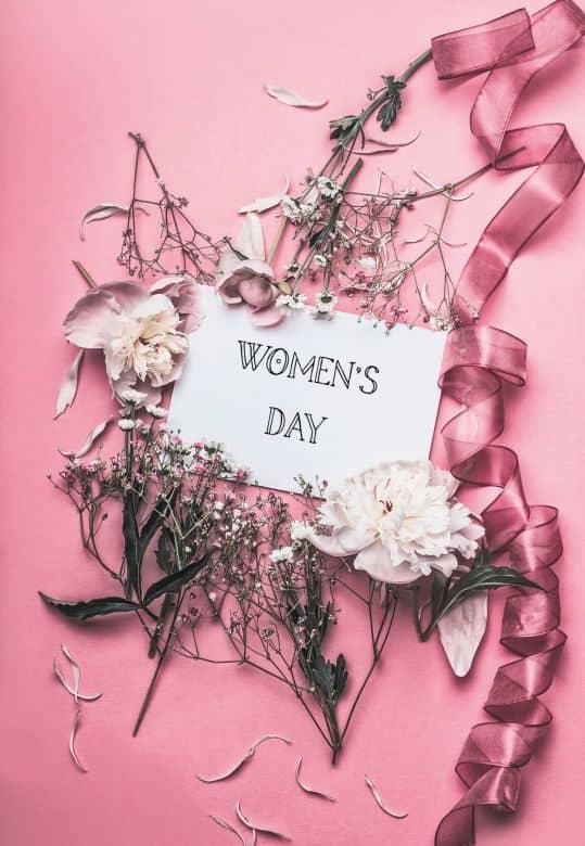 Carte cadeau Journée des femmes - Rose