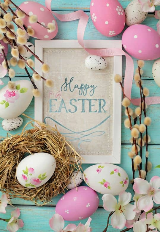 Gutschein Happy Easter - Osternest - bunt