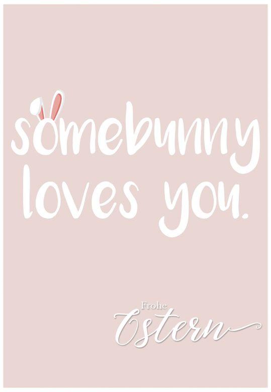 Gutschein Frohe Ostern - Somebunny loves you.