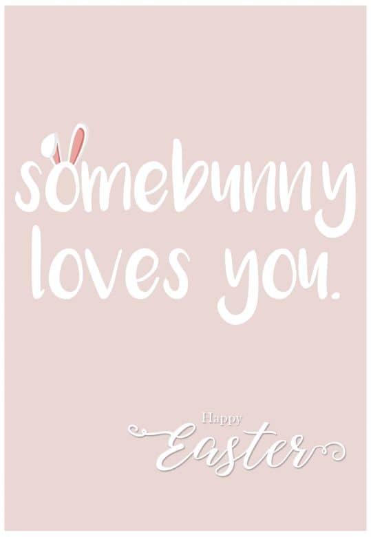 Gutschein Happy Easter - Somebunny loves you.