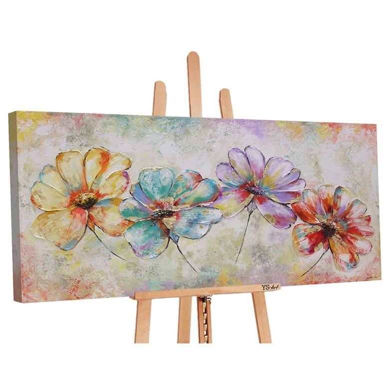 Acryl Gemälde handgemalt Schöne Blumen 140x70 cm