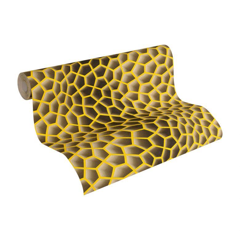 Livingwalls 3D Tapete Harmony in Motion by Mac Stopa beige, braun, gelb