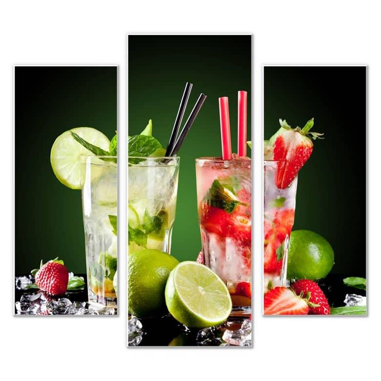 Wandbild Cocktail Hour (3-teilig)