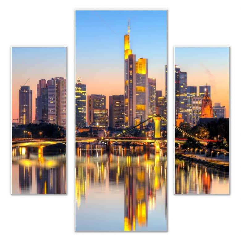 Wandbild Frankfurter Lichter (3-teilig)