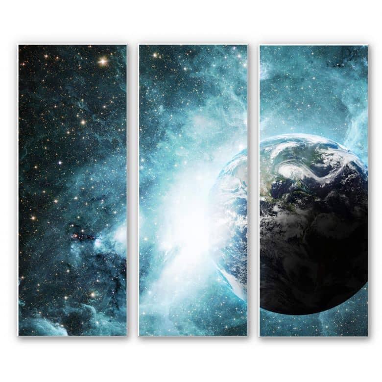 Wandbild In einer fernen Galaxie (3-teilig)