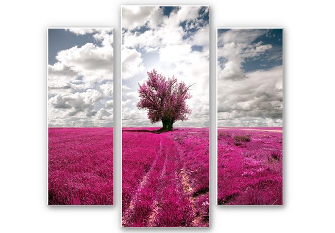 Wandbild The Lonely Tree (3-teilig)