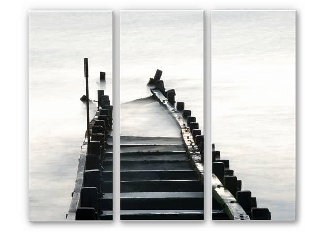 Wandbild Way to nowhere (3-teilig)