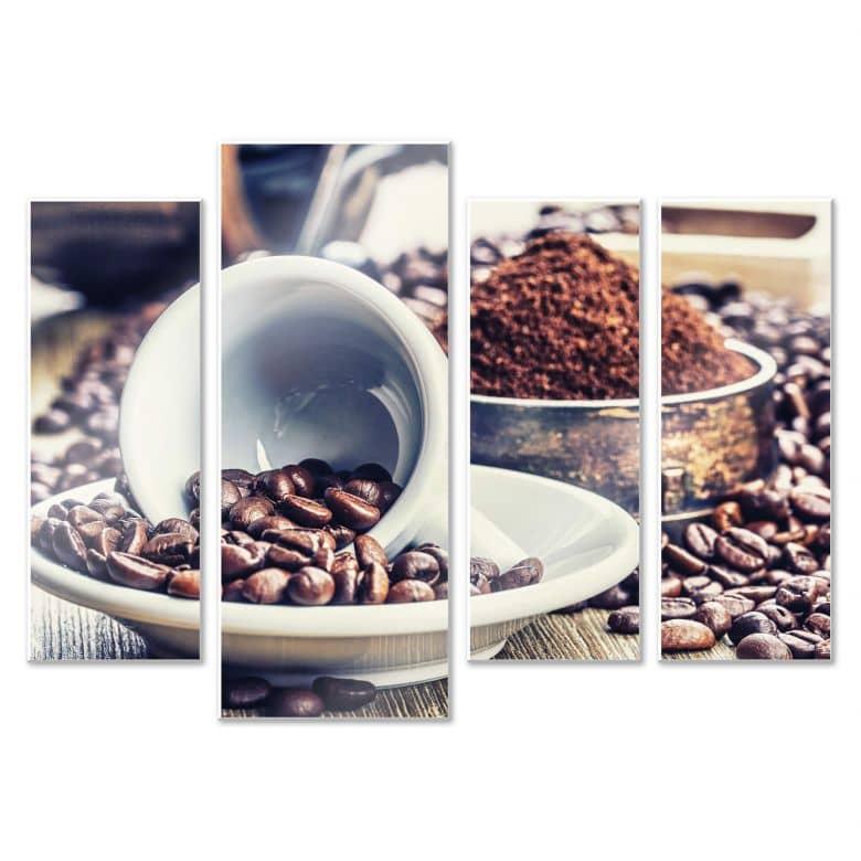 Wandbild Kaffeeträume (4-teilig)