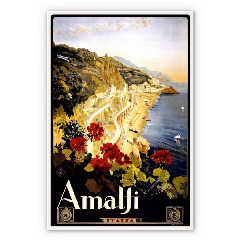 Wandbild Vintage Travel - Amalfi