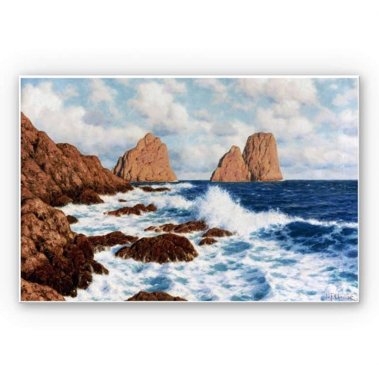 Wandbild Choultsé - Die Felsen bei Capri