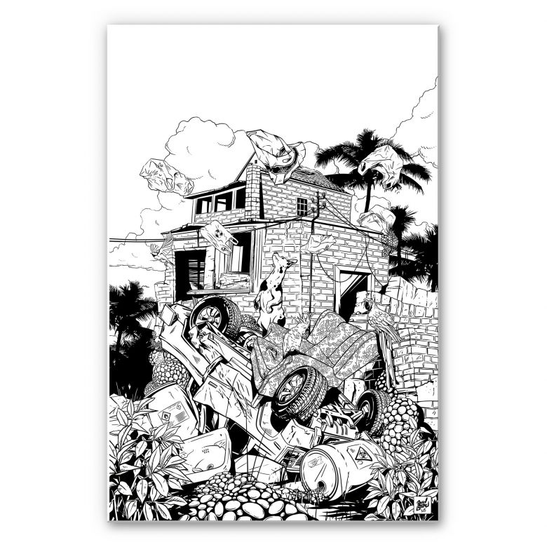 Wandbild Drawstore - Pickup