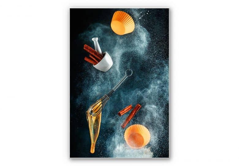 Wandbild Belenko - Kitchen mess: cinnamon cupcake