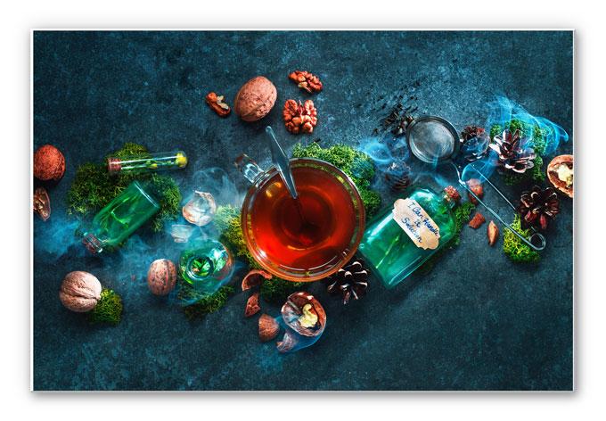 Wandbild Belenko - Nuts and Tea