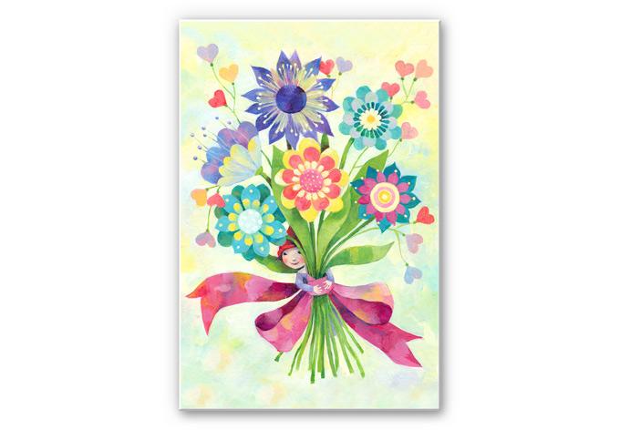 Wandbild Blanz - Blumenstrauß