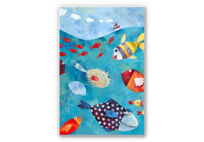 Wandbild Blanz - Fische im Meer