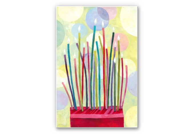 Wandbild Blanz - Geburtstagskerzen