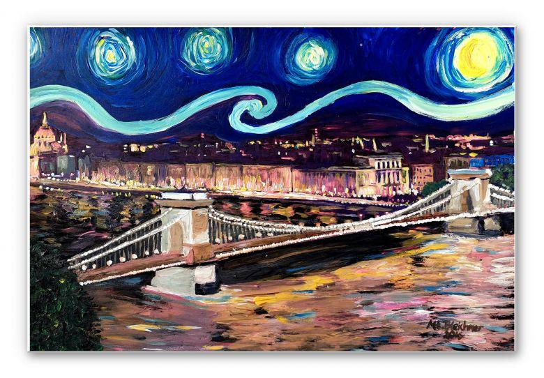 Wandbild Bleichner - Starry Night in Budapest