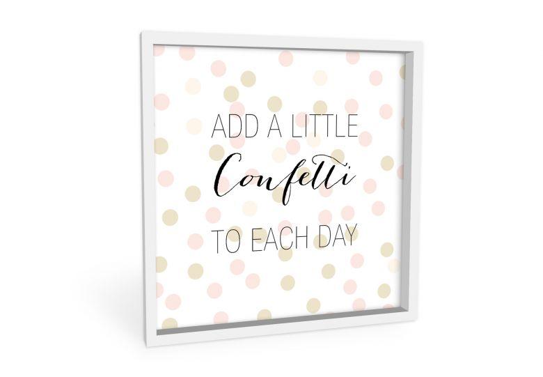 Wandbild Confetti & Cream - Add a little confetti