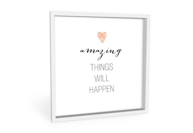 Wandbild Confetti & Cream - Amazing things will happen