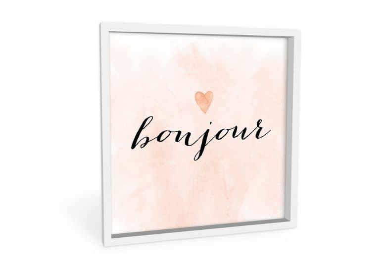 Wandbild Confetti & Cream - Bonjour