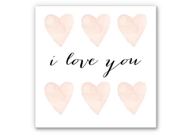 Wandbild Confetti & Cream - I Love You