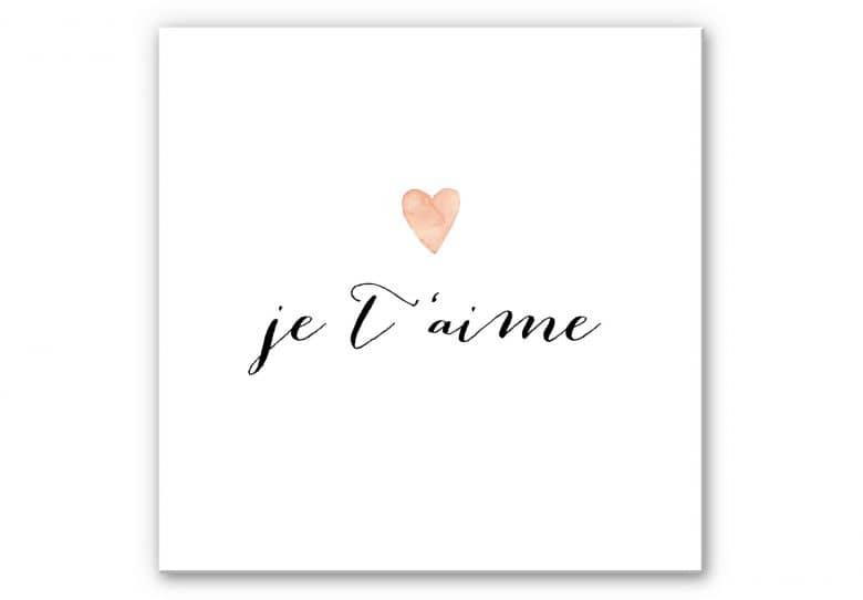 Wandbild Confetti & Cream - Je t'aime