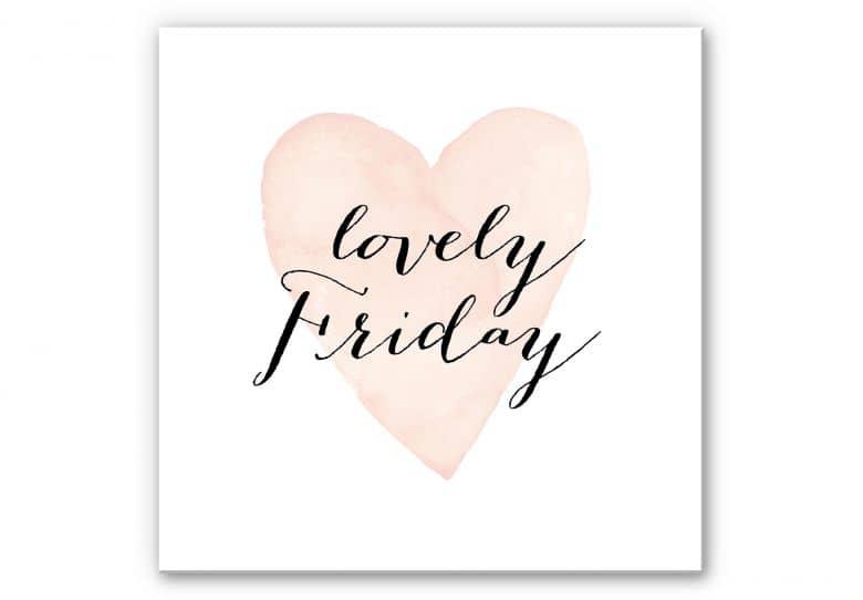 Wandbild Confetti & Cream - Lovely Friday