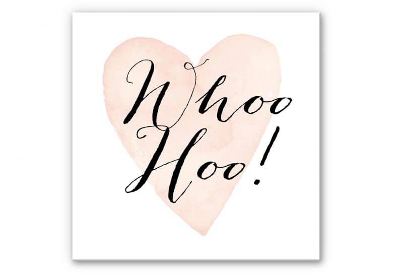 Wandbild Confetti & Cream - Whoo Hoo