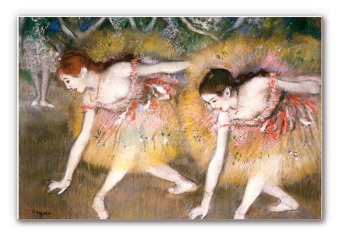 Wandbild Degas - Sich verbeugende Ballerinen