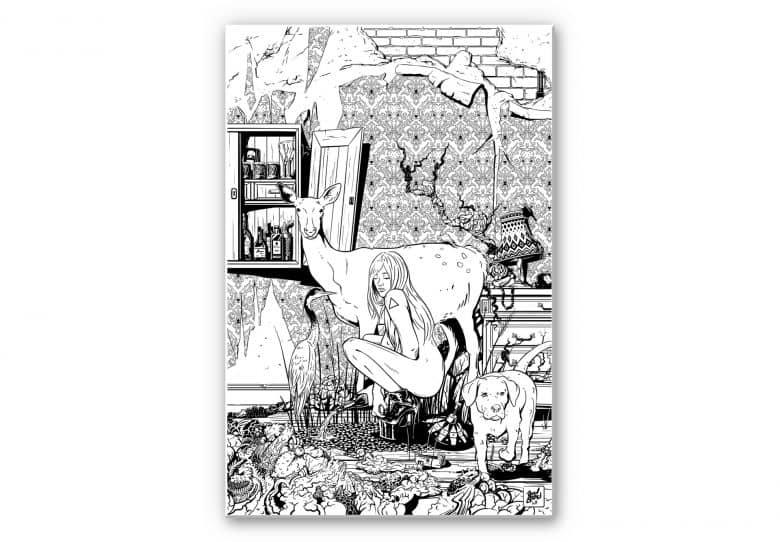 Wandbild Drawstore - In the Livingroom