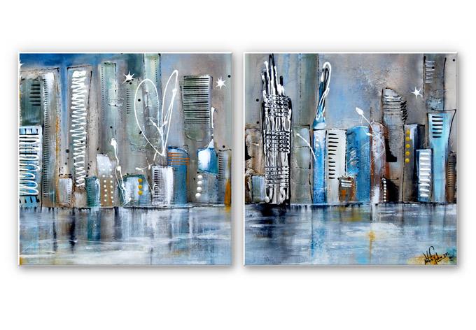 Forex Print Fedrau - Skyline (2-piece)