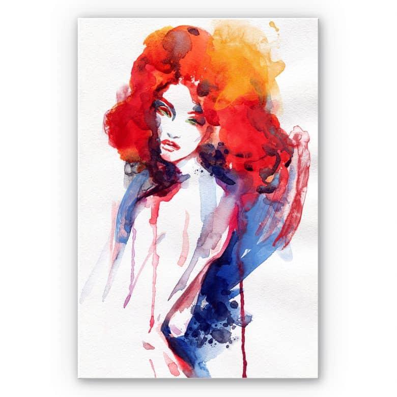 Wandbild Die Frau mit dem feuerroten Haar