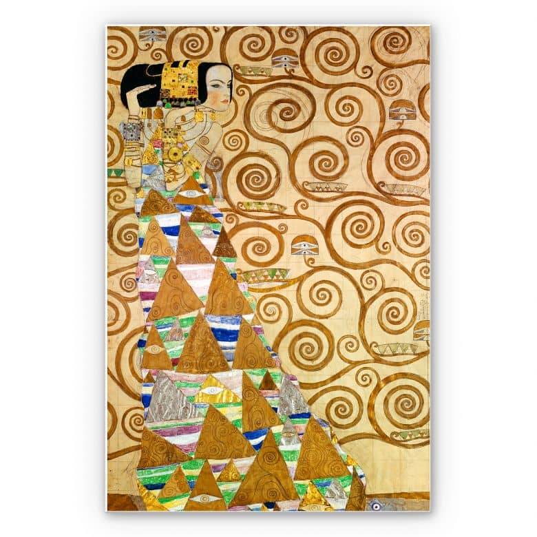 Wandbild Klimt - Die Erwartung